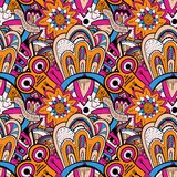 Seamless abstract hand-drawn pattern, steampunk vector illustration