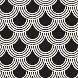 Seamless abstract hand drawn pattern. Vector freehand lines background texture. Ink brush strokes geometric design. Stock Image