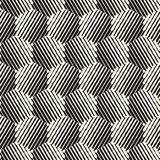 Seamless abstract hand drawn pattern. Vector freehand lines background texture. Ink brush strokes geometric design. Stock Photo