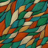 Seamless abstract hand-drawn pattern, waves background Royalty Free Stock Photos