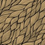 Seamless abstract hand-drawn pattern, waves background Royalty Free Stock Photography