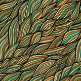 Seamless abstract hand-drawn pattern, waves background Royalty Free Stock Images