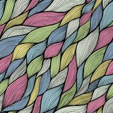 Seamless abstract hand-drawn pattern, waves background Stock Photo