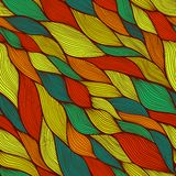 Seamless abstract hand-drawn pattern, waves background Royalty Free Stock Photo