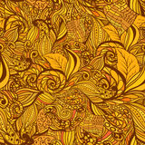 Seamless abstract hand-drawn pattern, waves background. Royalty Free Stock Photography