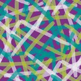 Seamless abstract hand-drawn pattern, waves background. Doodle Stock Image