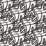 Seamless abstract hand-drawn pattern, waves background. Doodle royalty free illustration