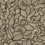 Seamless abstract hand-drawn pattern, waves background. Seamless Stock Photos