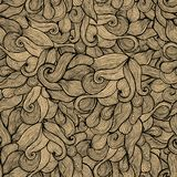Seamless abstract hand-drawn pattern, waves background. Seamless Royalty Free Stock Photos