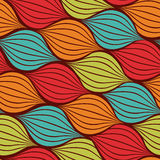 Seamless abstract hand drawn pattern with waves Royalty Free Stock Photography