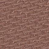 seamless abstract hand-drawn pattern with waves and clouds Royalty Free Stock Photos