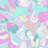 Seamless abstract hand-drawn texture Stock Photos