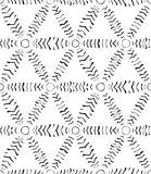 Seamless Abstract Hand Drawn Vector Pattern Stock Photography