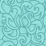 Seamless abstract hand-drawn vector pattern, waves Stock Image