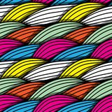 Seamless abstract hand-drawn waves pattern Stock Image