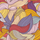 Seamless abstract hand-drawn waves pattern Stock Images