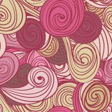 Seamless abstract hand-drawn waves pattern Royalty Free Stock Image