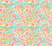 Seamless abstract hand-drawn waves pattern, wavy Royalty Free Stock Image
