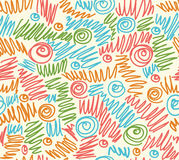 Seamless abstract hand-drawn waves pattern, wavy background. Stock Photos