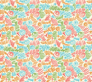 Seamless abstract hand-drawn waves pattern, wavy background. Royalty Free Stock Image