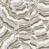 Seamless abstract hand-drawn waves pattern, wavy background. Royalty Free Stock Photography