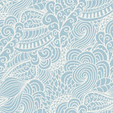 Seamless abstract hand-drawn waves pattern, wavy background. Sea Stock Image