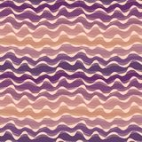 Seamless abstract hand-drawn waves pattern, wavy background. Sea Stock Photography