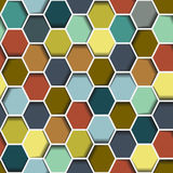 Seamless abstract hexagon Royalty Free Stock Image