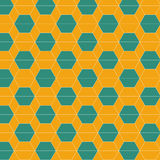 Seamless abstract hexagonal tiles pattern background. Vector illustration Stock Photo