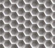 Seamless abstract honeycomb  background - hexagons. Color gray with shadows. Royalty Free Stock Image