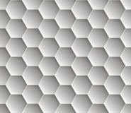 Seamless abstract honeycomb  background - hexagons. Color gray with shadows. Stock Images