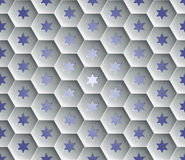 Seamless abstract honeycomb  background - hexagons. Each cell hole in a six-pointed star. Royalty Free Stock Photography
