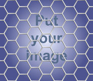 Seamless abstract honeycomb mesh  background - hexagons. Stock Images