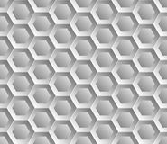 Seamless abstract honeycomb mesh  background - hexagons. Color silver. Royalty Free Stock Image