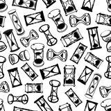 Seamless abstract hourglasses pattern Stock Photography