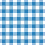 Seamless abstract illustration of blue chechkered gingham tabl. E cloth, vintage or retro styled traditional pattern, also for napkin Royalty Free Stock Image