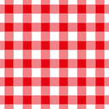 Seamless abstract illustration of red chechkered gingham table. Cloth, vintage or retro styled traditional pattern, also for napkin royalty free illustration