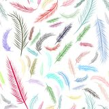 Seamless abstract illustrations of feather, conceptual. Cover, pattern, texture & drawing. Seamless abstract illustrations of feather, conceptual. Good for Stock Photos