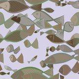 Seamless abstract illustrations of fish, conceptual. Drawing, messy, cover & template. Seamless abstract illustrations of fish, conceptual. Good for design royalty free illustration