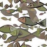 Seamless abstract illustrations of fish, conceptual. Nature, ocean, cartoon & sketch. Seamless abstract illustrations of fish, conceptual. Good for design vector illustration