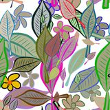 Seamless abstract illustrations of leaves & flower, conceptual. Nature, set, cover & background. Seamless abstract illustrations of leaves & flower, conceptual royalty free illustration