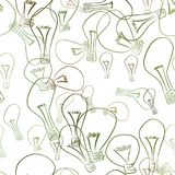 Seamless abstract illustrations of light bulb, conceptual. Template, vector, canvas & power. Seamless abstract illustrations of light bulb, conceptual. Good for Royalty Free Illustration