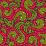 Seamless abstract indian hand-drawn pattern Stock Photography
