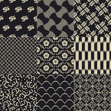 Seamless abstract  japanese mesh pattern Stock Photos