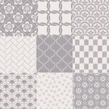 Seamless abstract japanese mesh pattern stock illustration