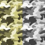 Seamless abstract khaki color pattern Stock Images