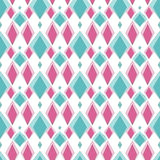 Seamless abstract kids pattern ornament geometric bright rhombus Stock Images