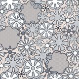 Seamless abstract lace floral pattern Stock Photography