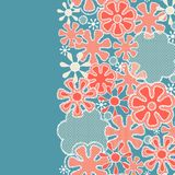 Seamless abstract lace floral pattern Stock Photo