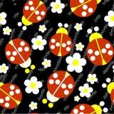 Seamless abstract ladybug grunge texture 537 Royalty Free Stock Image